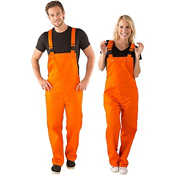 Latzhose unisex, orange