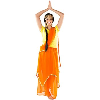 buttinette Bollywood-Rock 'India', orange