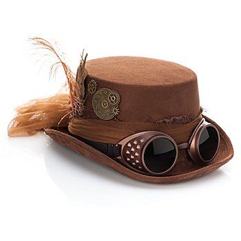 Haut-de-forme 'Steampunk', marron