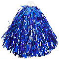 Pompon, metallic, blau
