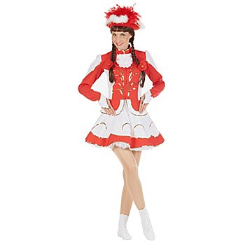 buttinette Déguisement de majorette avec jupe cloche, rouge