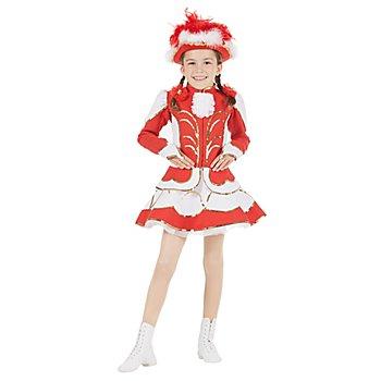 buttinette Déguisement de majorette avec jupe cloche pour enfants, rouge