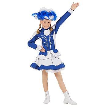 buttinette Gardekostüm mit Glockenrock für Kinder, blau