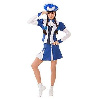 buttinette Gardekostüm im Jacket-Stil, blau/weiss