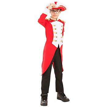 buttinette Veste 'major' pour enfants, rouge/blanc