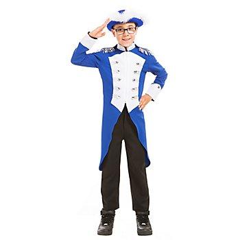 buttinette Gardefrack im Major-Stil für Kinder, blau