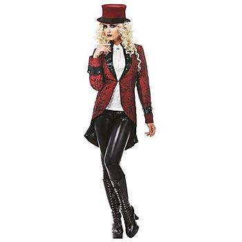 Vampir Frack 'Vampirella' für Damen, schwarz/rot