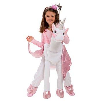 Déguisement porte-moi 'petite licorne' pour enfants, blanc/rose