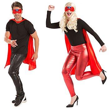 Set 'super-héros' pour adultes, rouge