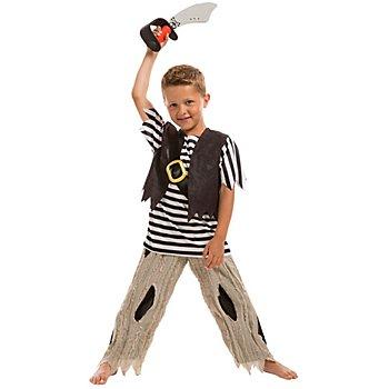 Costume de pirate pour enfants, noir/blanc