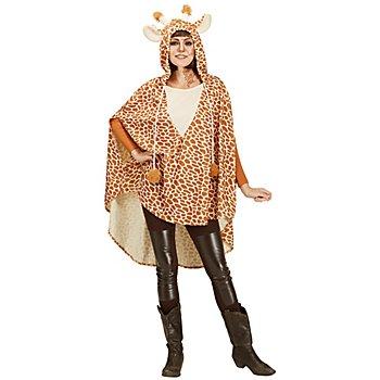 buttinette Giraffen Poncho Unisex