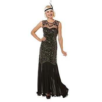buttinette Robe Charleston 'Myrtle', noir