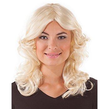Perruque années 70 'Agnès', blond