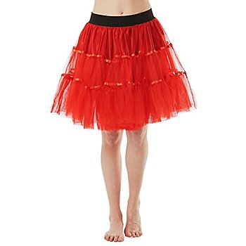 Jupe tulle, rouge, opaque