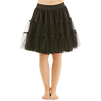 Jupe tulle, noir, opaque