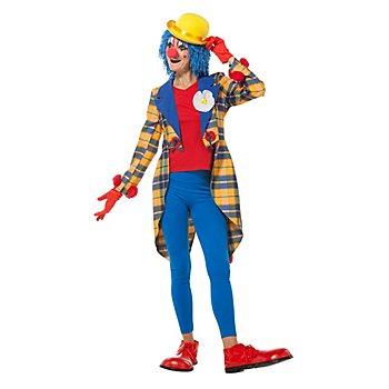 Veste queue de pie 'clown Pepita' pour femmes, bleu/jaune