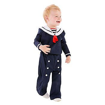 buttinette Costume de matelot 'Little Haddock' pour enfants, bleu marine