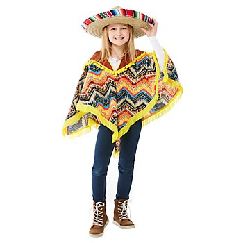 buttinette Poncho 'Mexiko' für Kinder