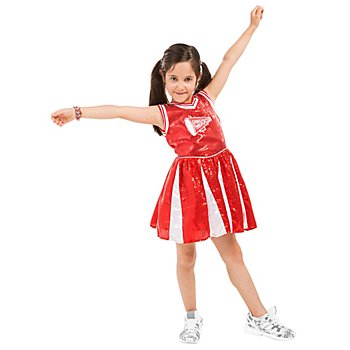 buttinette Robe de pom-pom girl 'Wild Chicks' pour filles, rouge/blanc