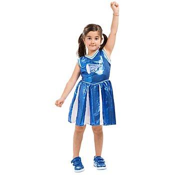 buttinette Cheerleader Kleid 'Wild Chicks' für Mädchen, blau/weiss