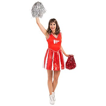 buttinette Cheerleader Kleid 'Eagle' für Damen, rot/weiß