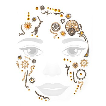Face Art Tattoo 'Steampunk'