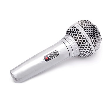 Microphone gonflable, argent