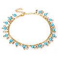 """buttinette Bracelet de cheville """"Égyptienne"""", turquoise/or"""