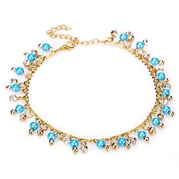 buttinette Bracelet de cheville 'Égyptienne', turquoise/or
