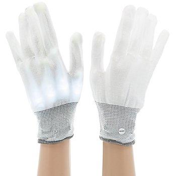 LED-Handschuhe, weiss