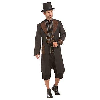 Steampunk Kostüm für Herren, schwarz