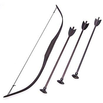 Pfeil und Bogen, schwarz