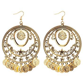 Ohrringe 'Münzen', gold