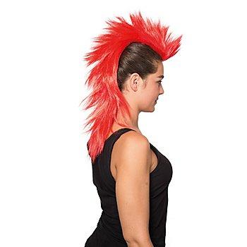 Crête iroquoise longue, rouge