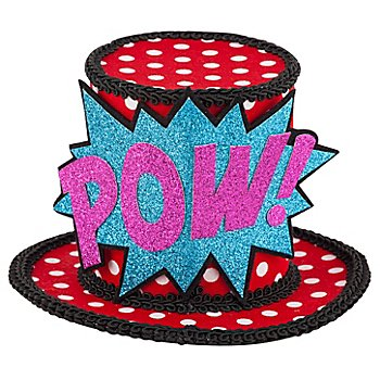 buttinette Mini-Hütchen Pop Art 'Pow!'