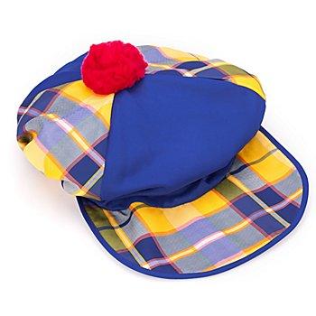 Clown Schildmütze, blau/gelb