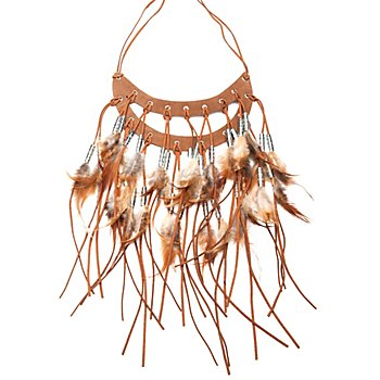 Indianer Halskette 'Große Feder'