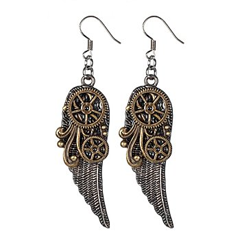 Steampunk Ohrringe 'Wings'