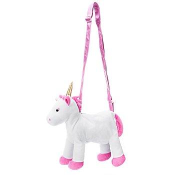 buttinette Einhorn Tasche, weiß/pink