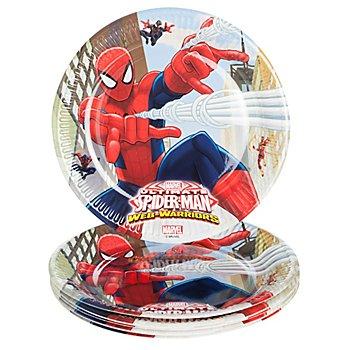 Pappteller 'Spiderman', 23 cm Ø, 8 Stück