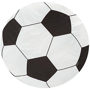 Papierservietten 'Fußball', 33 cm Ø, 20 Stück