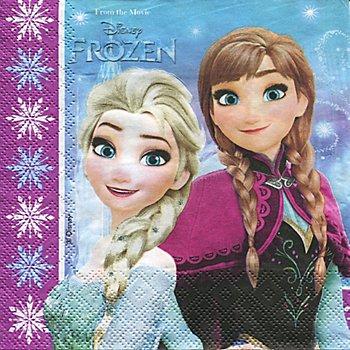 Papierserviette 'Frozen', 33 x 33 cm, 20 Stück