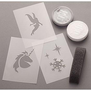 Tattoo-Set 'Schneeflocke, Fee und Einhorn'