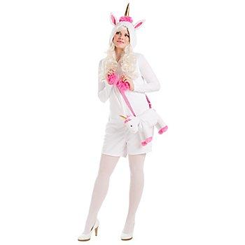 buttinette Combinaison 'licorne' pour femmes, blanc/rose vif