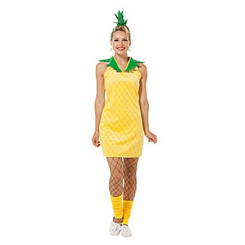 buttinette Costume 'ananas Fruity' pour femmes, jaune