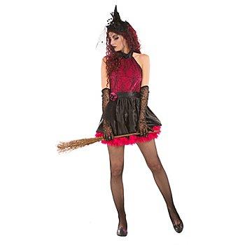 buttinette Robe de sorcière sexy, noir/rose vif