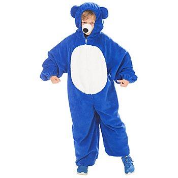 buttinette Bärchen Kostüm für Kinder, blau