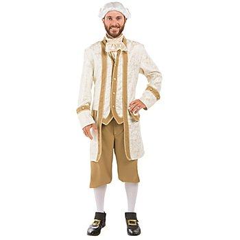Barock Kostüm für Herren, creme/gold