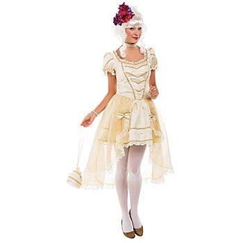 buttinette Robe baroque pour femmes, crème/or