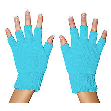 Strickhandschuhe, hellblau